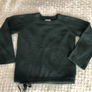 Green knit Madewell sweater